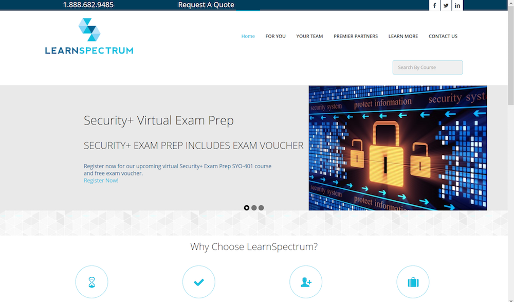 LearnSpectrum Website Design
