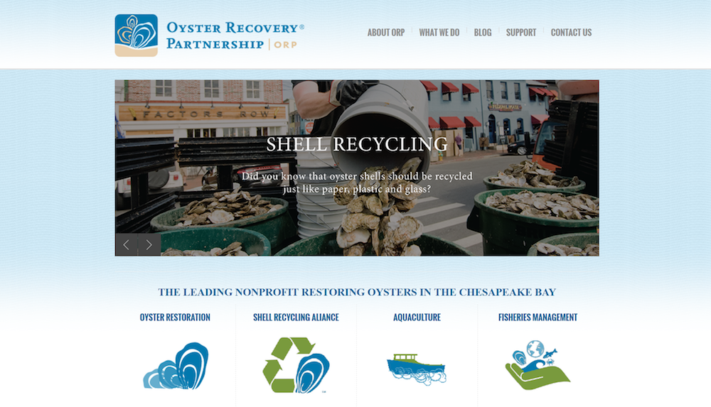 oyster recovery partnership re-theme