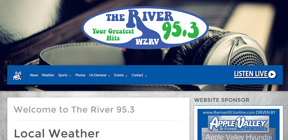 The River 95.3 Website Design