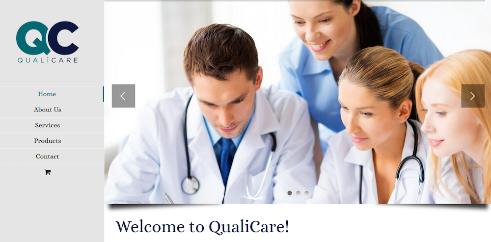 qualicare website design by web strategies