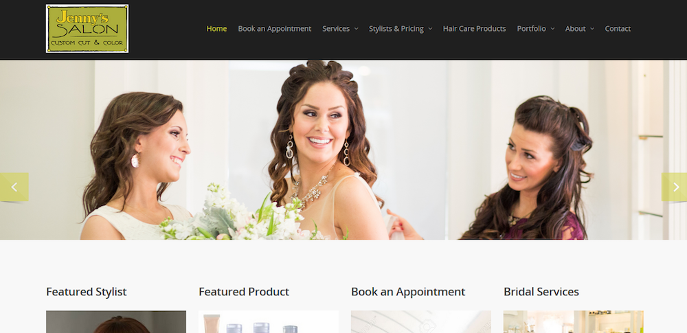 jennys salon website design