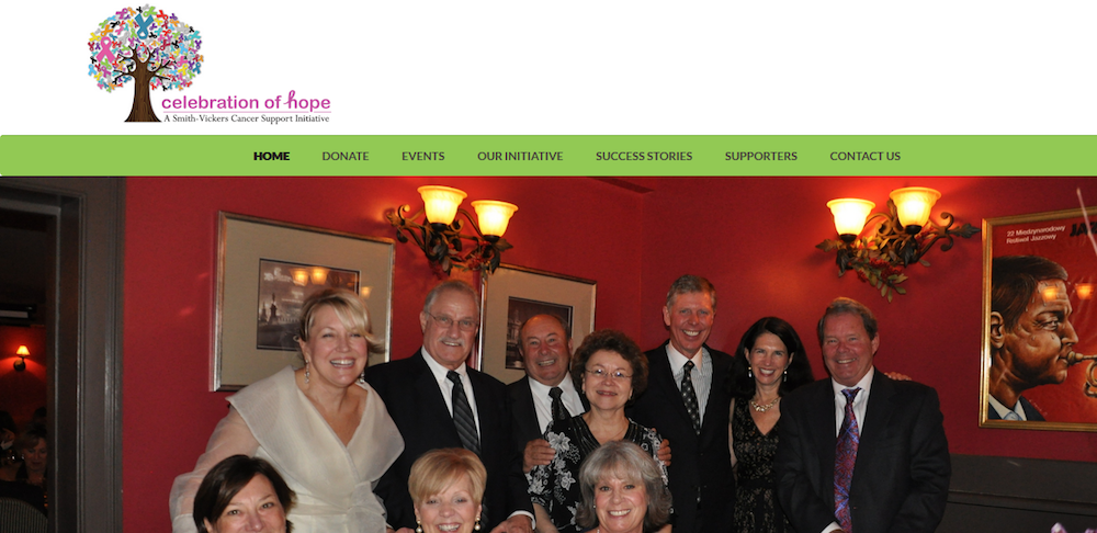 celebration of hope website design