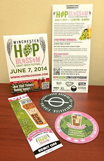 Cohesive Event Branding for the hop blossom craft beer fesitval