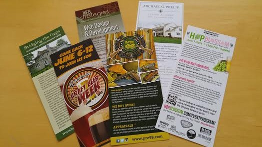 custom rack cards in winchester, va designed by web strategies internet solutions