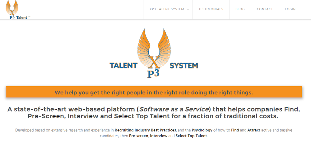 XP3 Talent Website Design