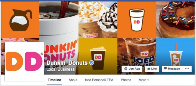 Collage Facebook Cover Ideas Dunkin' Donuts
