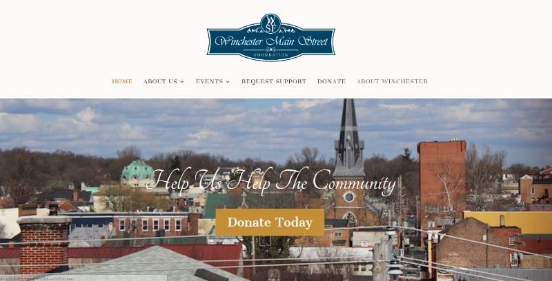 Winchester Main Street Foundation Website