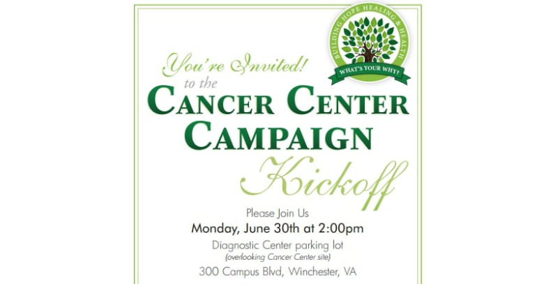 Winchester Medical Center – Cancer Center Kickoff Invite