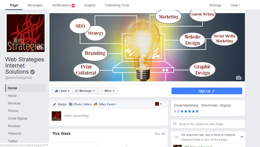 Facebook's New Pages Layout 2016 | Web Strategies