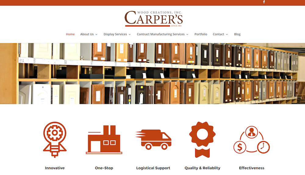 Carper's Wood Creations Logo Design and Website Launch