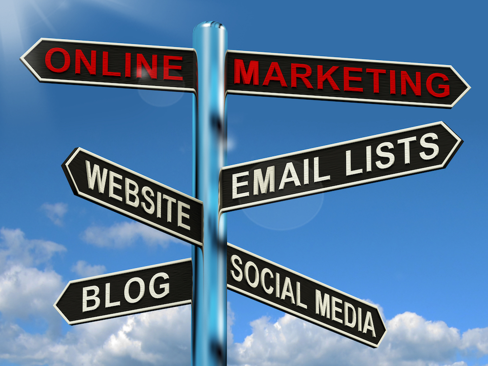 Digital Marketing - email lists, website, blog and social media