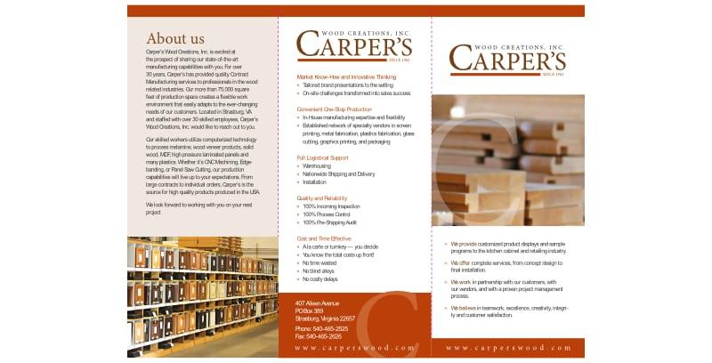Carper's Wood Creations Brochure