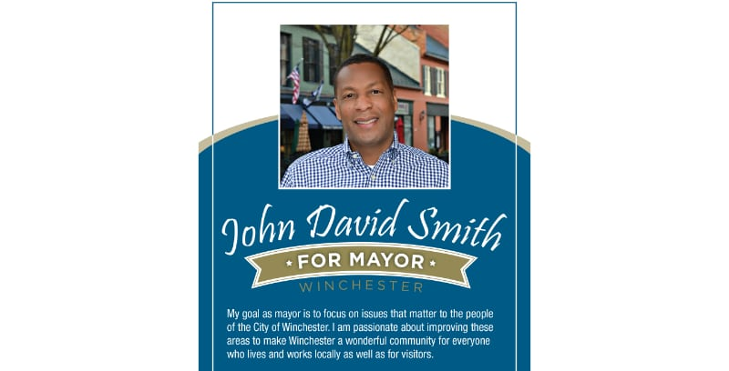 David Smith For Mayor Rack Card