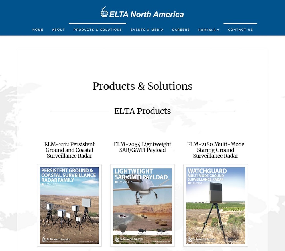 elta north america services page website