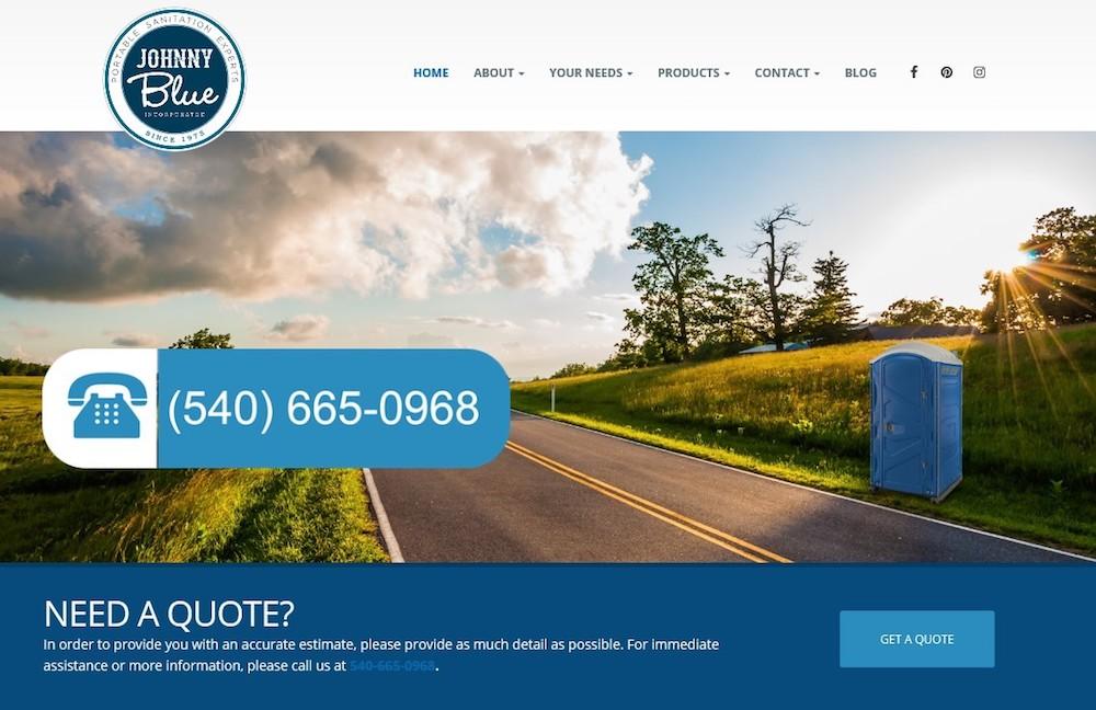 johnny blue inc website design winchester va
