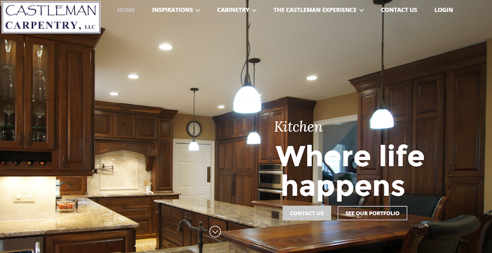 carpentry website design