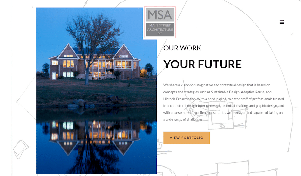 Main Street Architecture Website Design | Web Strategies