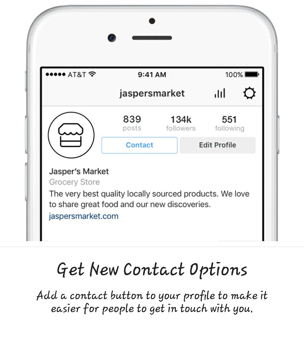 instagram business contact