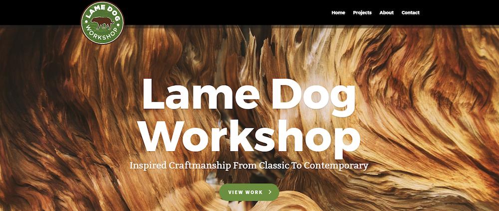Lame Dog Workshop Website Design