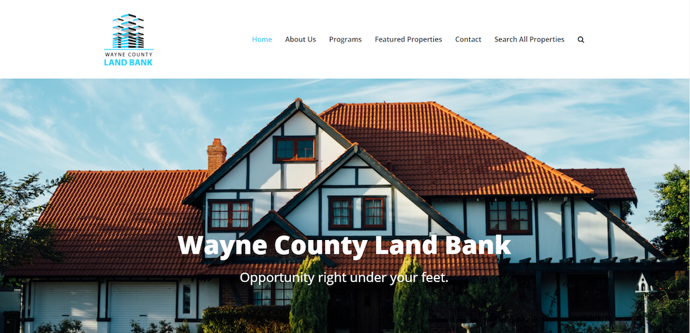 Wayne County Land Bank Website Design