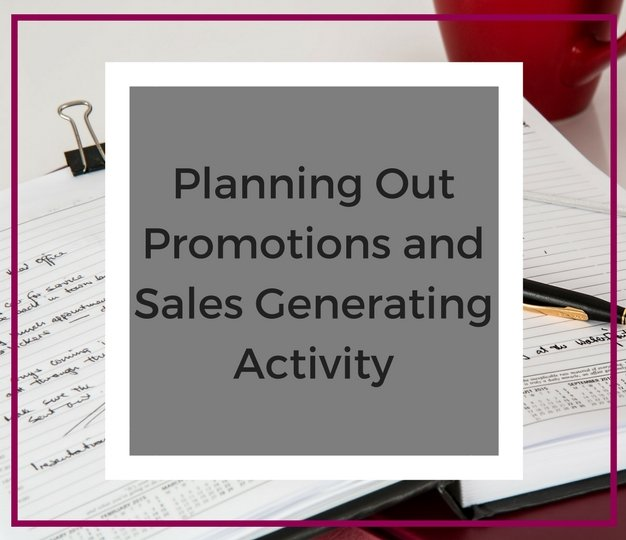 PlanningOutPromotionsandSalesGenerating Activity