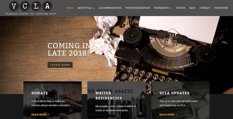 Virginia Center for Literary Arts Website Design