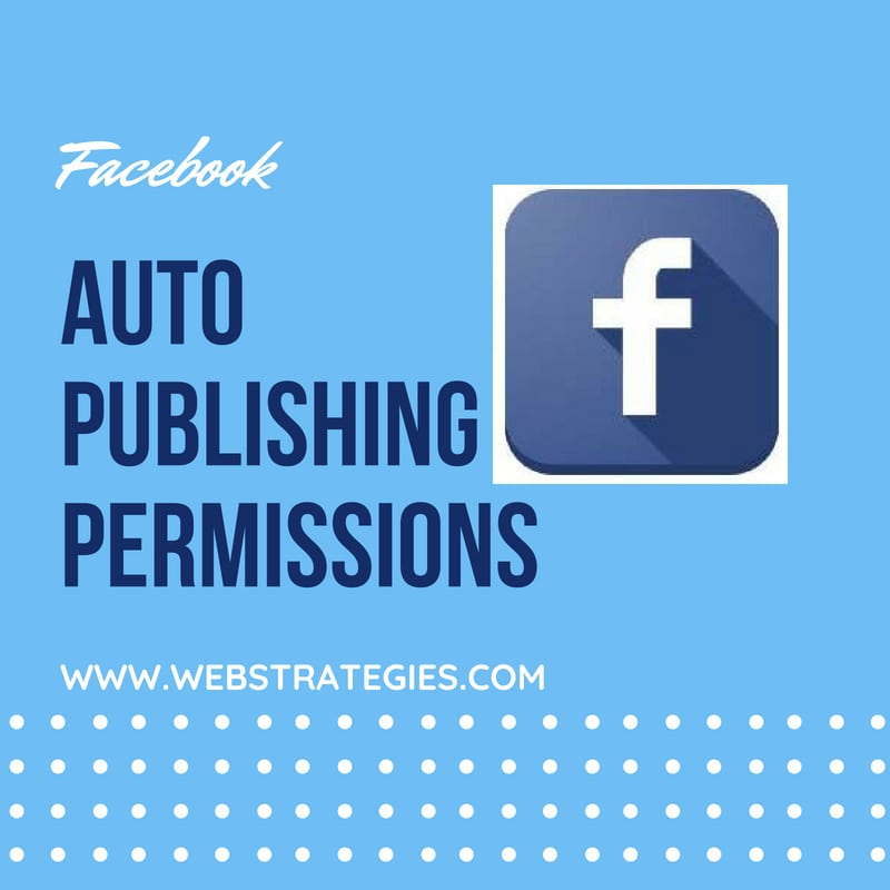 facebook auto publishing permissions
