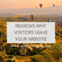 reasons why visitors leave your site