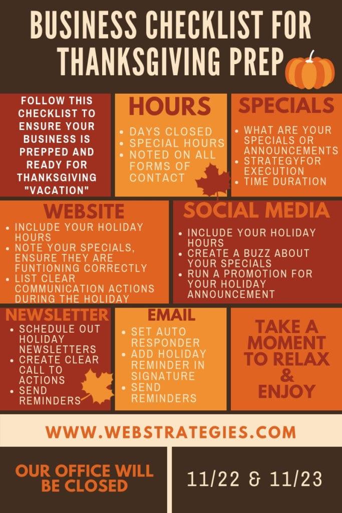 business checklist for thanksgiving prep