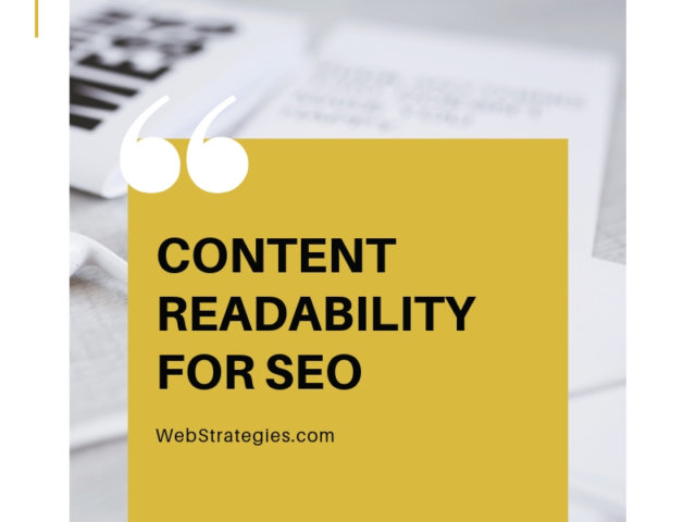 content readability for SEO