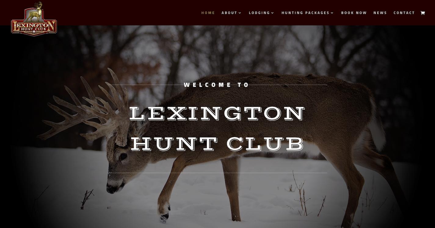 portfolio image of lexington hunt club home page