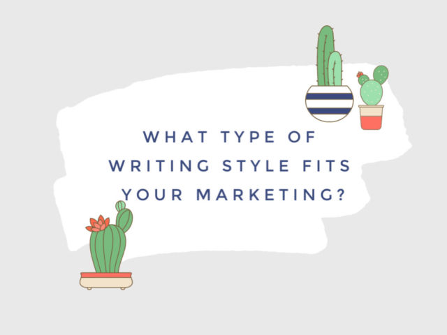 types of writing styles