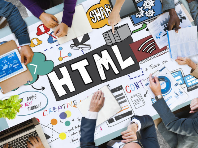 HTML Share Content Coding Network Concept
