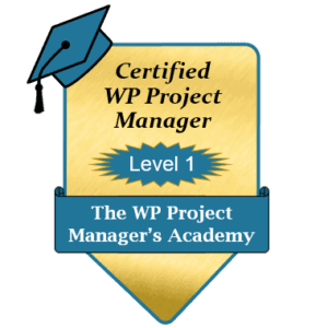 Certified WordPress Project Manager Level 1 Badge