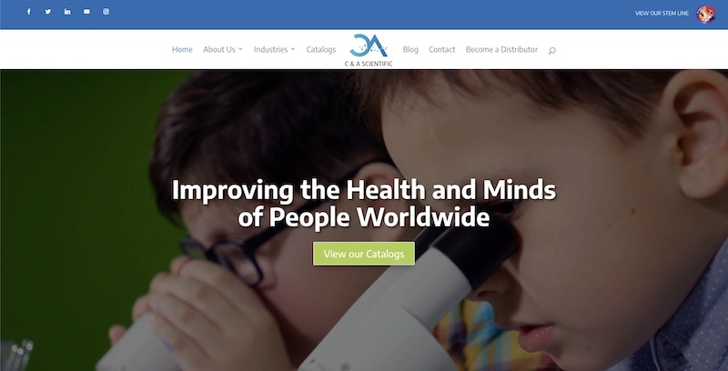 CNA Scientific Website Redesign
