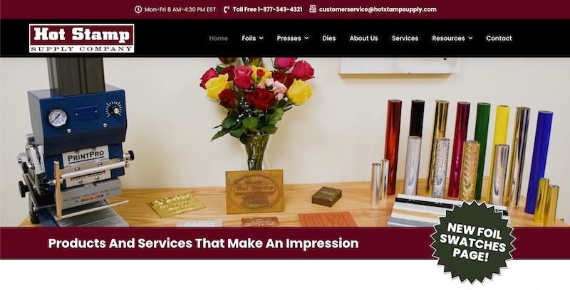 Hot Stamp Supply Website
